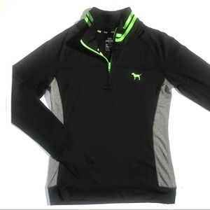 VS PINK Quarter Zip Pull Over Athletic Top